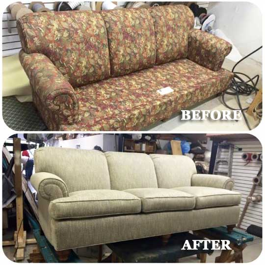 sofa reupholstery in atlanta